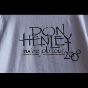 Tops - Don Henley Inside Job 2000 Tour Shirt